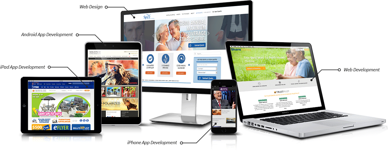 Custom Development, Web Designand Mobile Apps